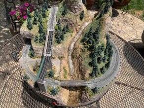 "A 24"" Diameter N Scale Mountain Layout"