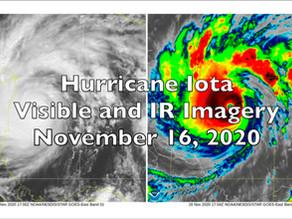 Hurricane Iota Satellite Loops