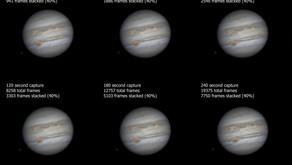 Image Capture Length on Jupiter