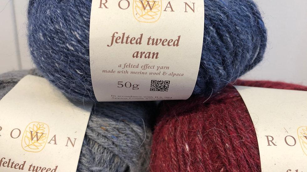 Aran Weight: Rowan Felted Tweed Aran