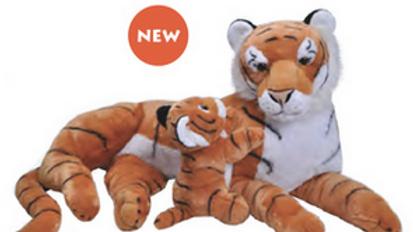 Wild Republic Mum and Baby Tiger