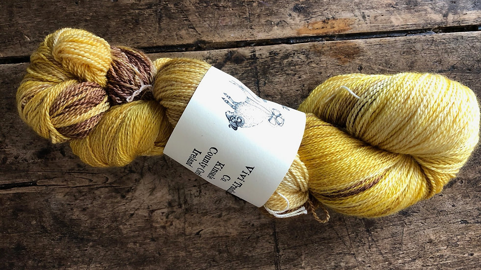 Lace Weight Silk and Merino Bumblebee