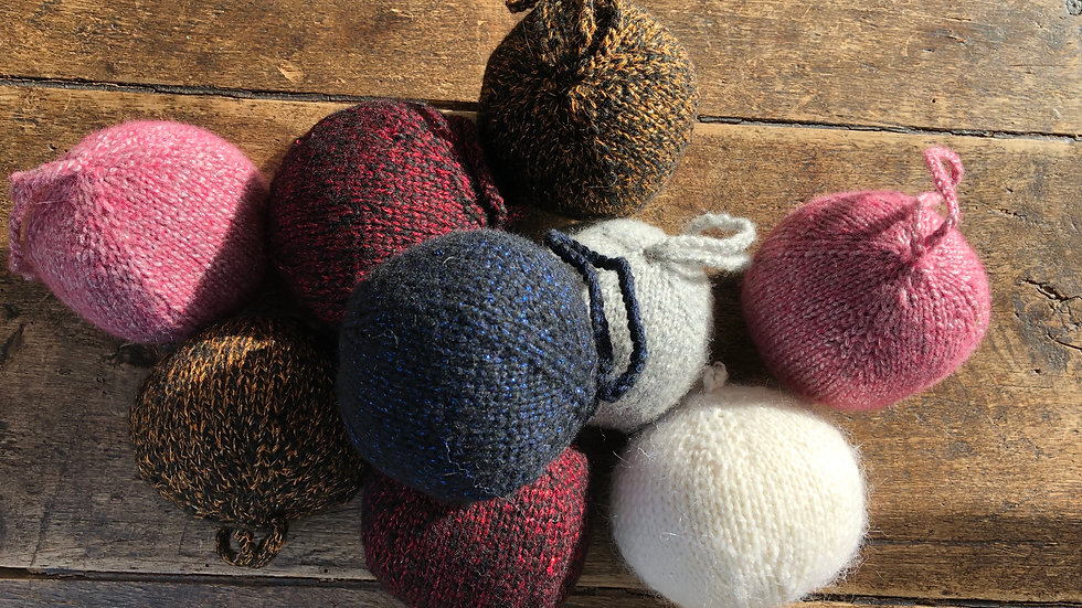 Woolly Christmas Baubles