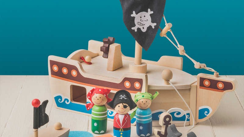 Tobar Wooden Pirate Ship