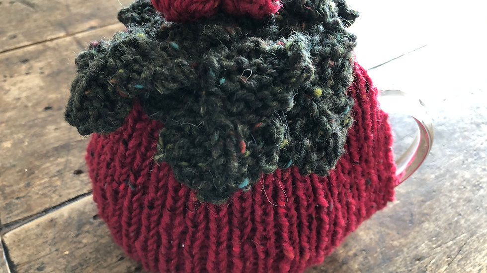 Hand-knitted Christmas Tea Cosy