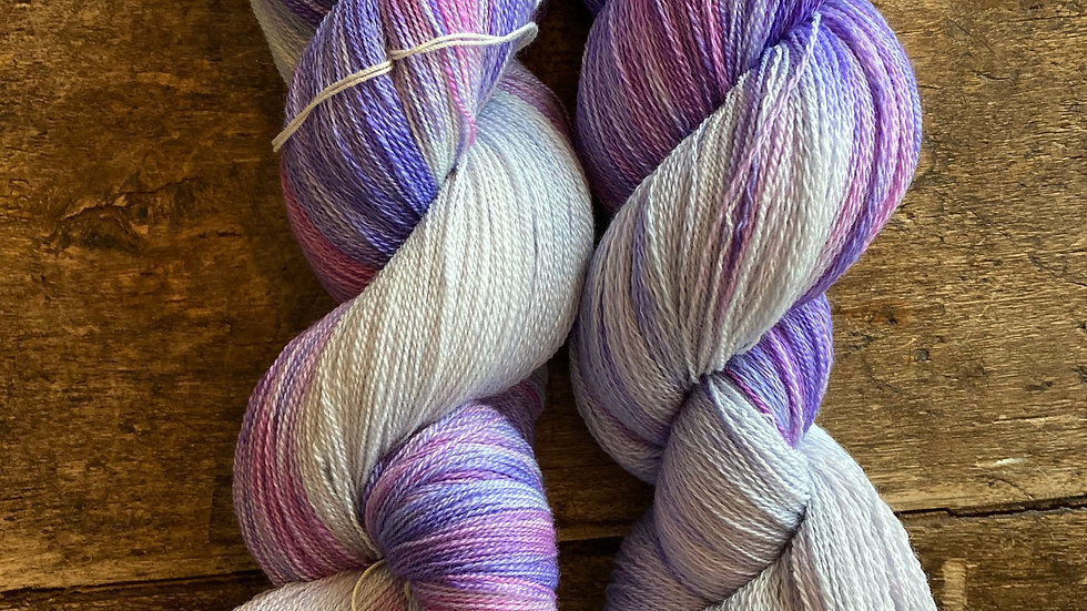 Lace Weight Silk and Superfine Merino Twilight