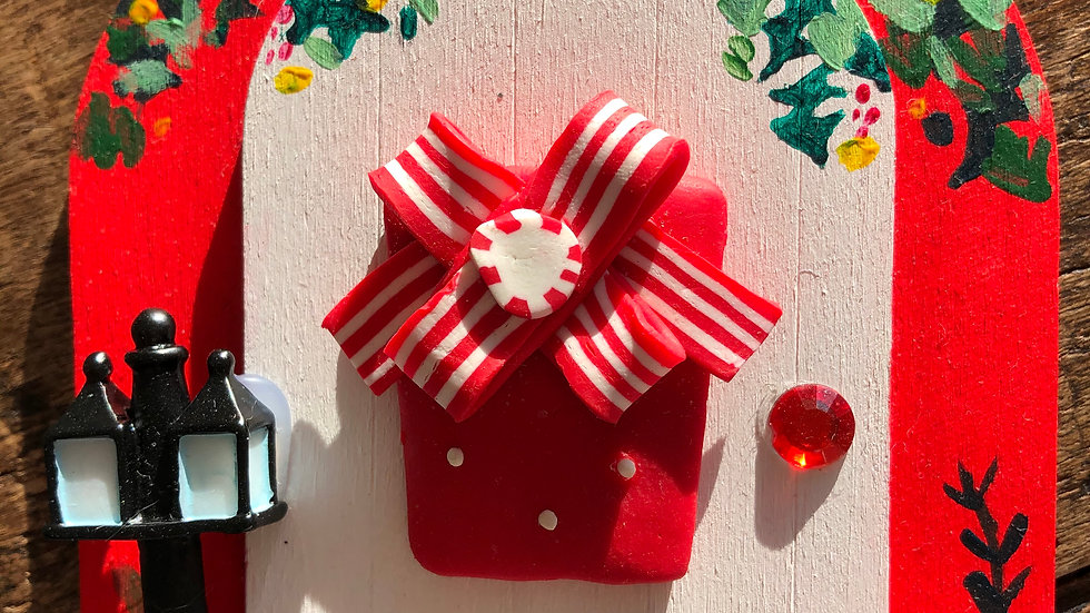 Hand-Painted Christmas Fairy doors  - Large