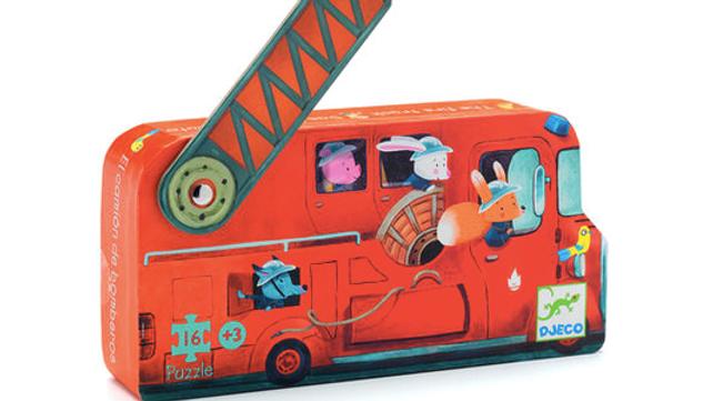 Djeco Silhouette Puzzel Fire Truck