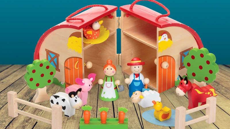 Tobar Wooden Farm Set