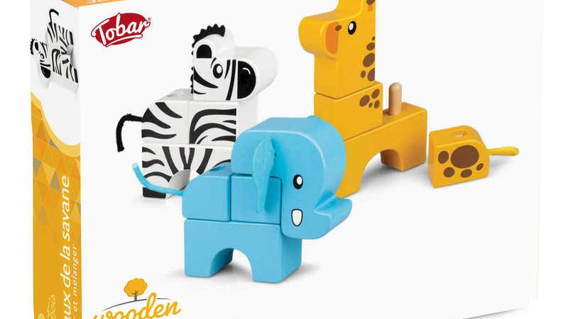 Tobar Stack and Play Wooden Animals