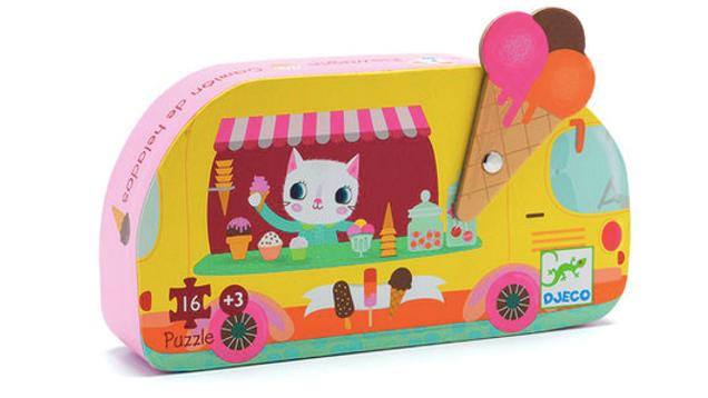 Djeco Silhouette Puzzel Ice Cream Van