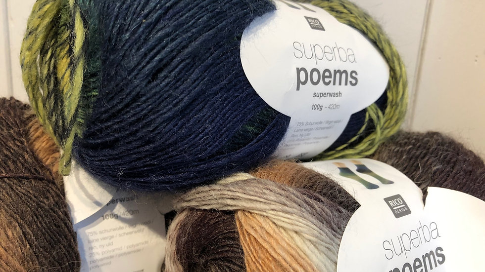 Sock Wool: Rico Superba Poems