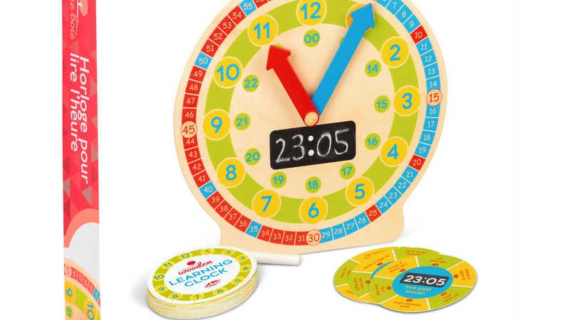 Tobar Wooden Learning Clock