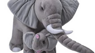 Wild Republic Mum and Baby Elephant