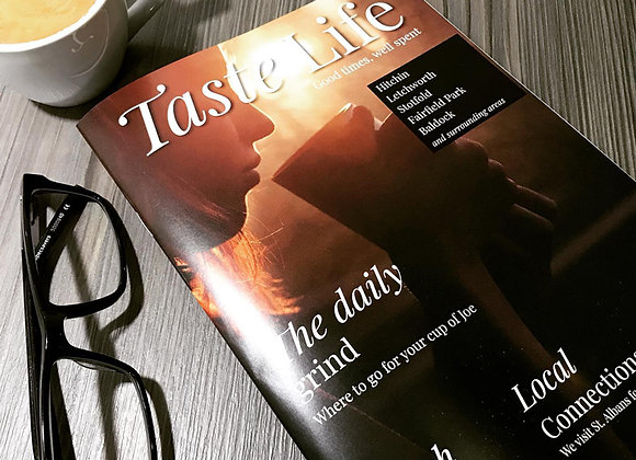 12 Month Subscription to Taste Life Magazine Hitchin Edition