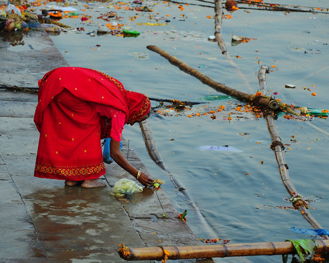 Praying on the Ganges River