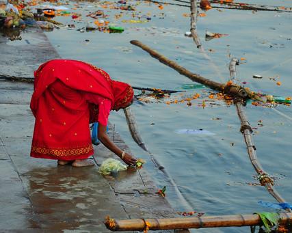 Praying at Ganges, Varanasi