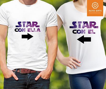 Camiseta Star con El/Ella (Par)