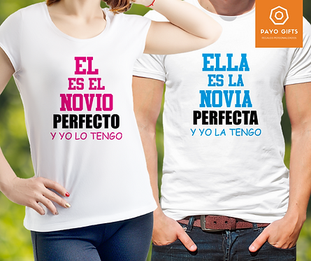 Camiseta Novio/a Perfecto(Par)