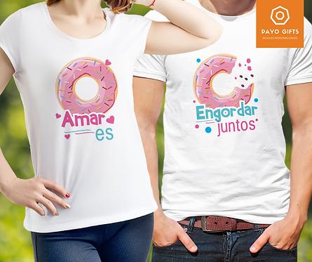 Camiseta Amar es Engordar Juntos (Par)