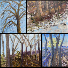 four plein air paintings one session PHO