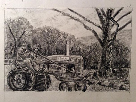 Charles and his tractor