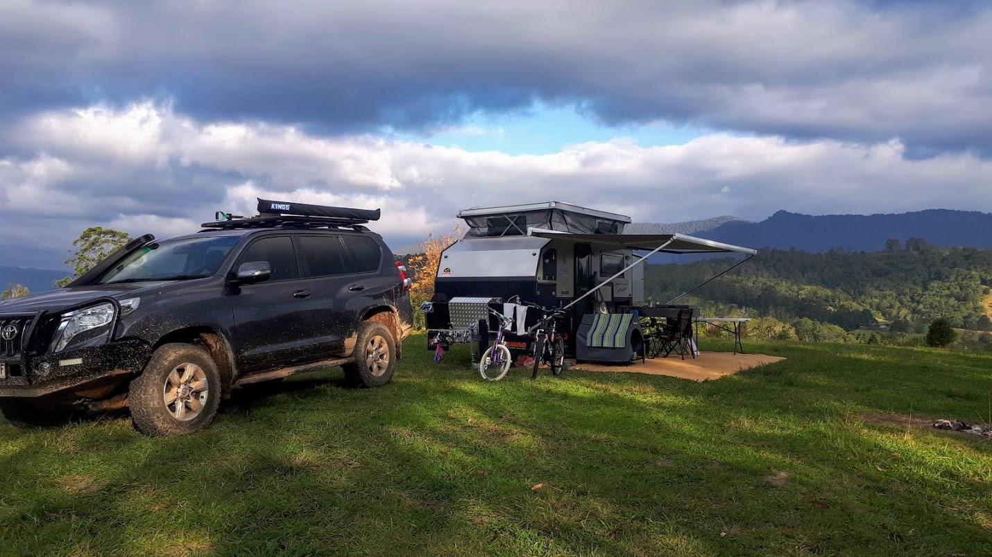 Swag Raptor X13 Hybrid Caravan for hire brisbane