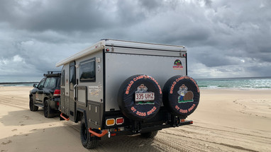 Hybrid camper trailer for hire brisbane