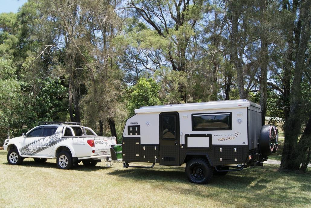 Swag Hybrid caravan for hire brisbane