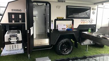 Swag Raptor X12 Hybrid Caravan For hire brisbane