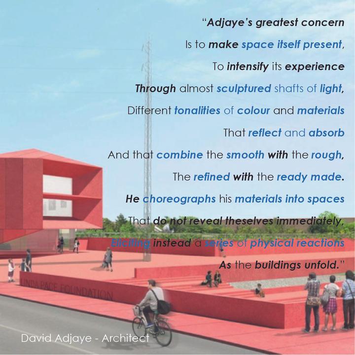 David Adjaye - make space itself present