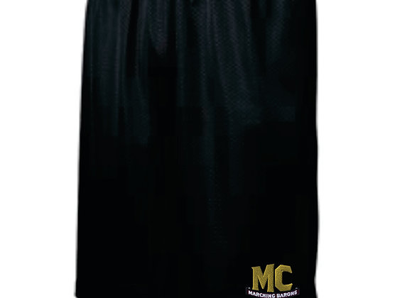 Black Mesh Drawstring Shorts