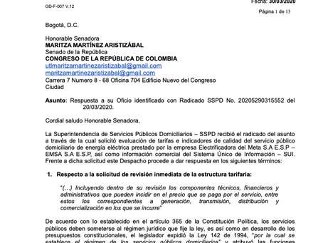 Superintendencia de Servicios Públicos impuso sanción a la EMSA y adelanta investigaciones por defic