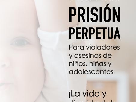 """""""¡Lo logramos! Tenemos prisión perpetua para asesinos y violadores de menores de edad"""", senadora Mar"""