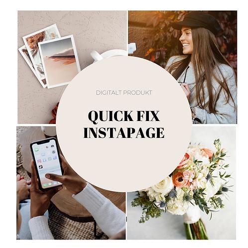 Quickfix av instagramprofil