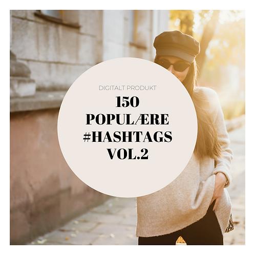 150 Populære #hashtags vol.2