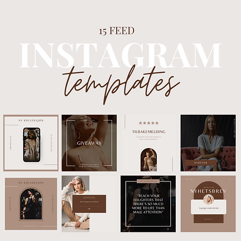 15 Instagram Feed Templates - Nude