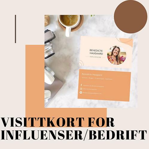 Visittkort for Influencer/bedrift
