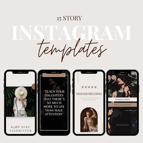 15 Instagram Story Templates - Nude