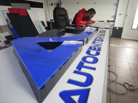 Frankfurt Werbeschilder,Werbetechnik, 3D Buchstaben