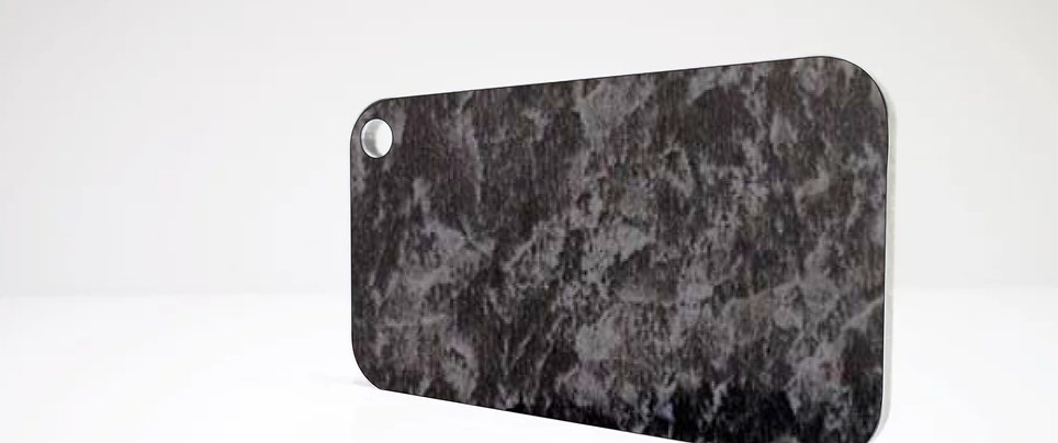 Aluverbundplatte 4mm Aluminium-Verbundplatte Granit Optik 320x125