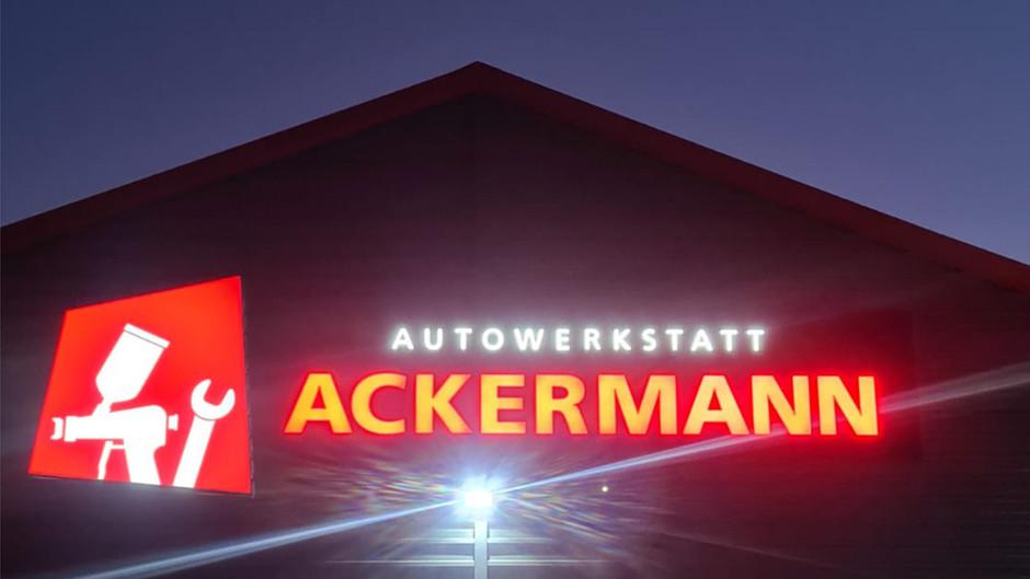 3D Buchstaben - Autowerkstatt - Lichtwerbung - Außenwerbung - Leuchtwerbung