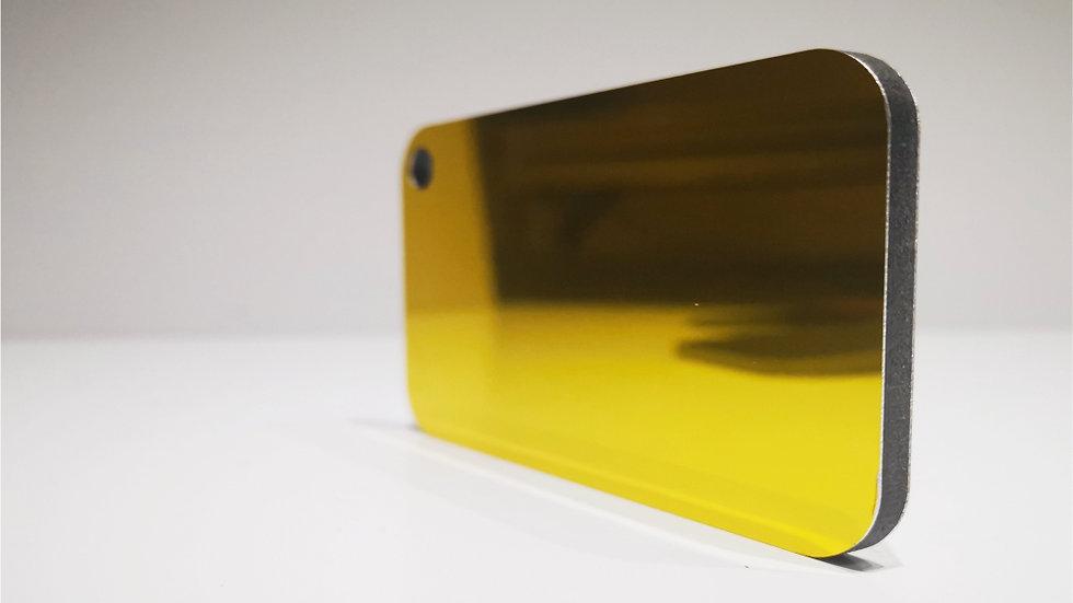 Aluverbundplatte 4mm Aluminium-Verbundplatte - Spiegel - Gold - 320x125 cm