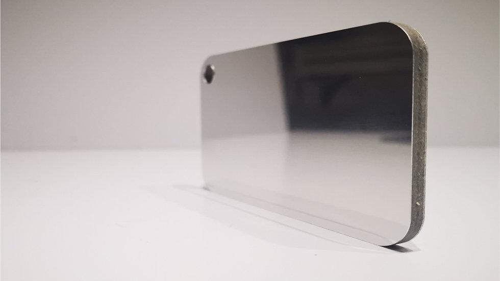 Aluverbundplatte 4mm Aluminium-Verbundplatte - Spiegel -Silber - 320x125 cm