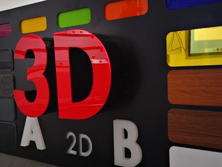 3D BUCHSTABEN Musterbox für Werbetechniker,Werbeagentur & Wiederverkäufer