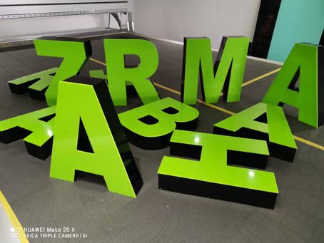 3D Buchstaben - Werbetechnik Frankfurt