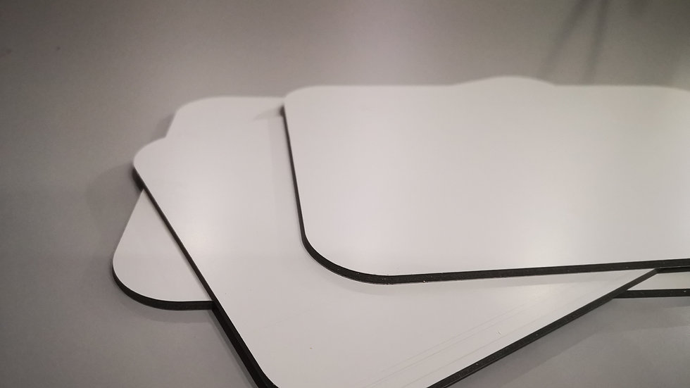 Aluverbundplatte 4mm Aluminium-Verbundplatte - Weiß Matt 320cmx150cm