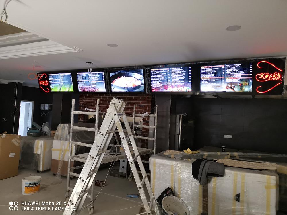 Imbiss - Video Menü - Tv - Digital Menü Board Döner - Pizzeria - Restaurant