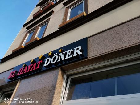 El Hayat Döner & Pizzeria Werbung & 3D Buchstaben