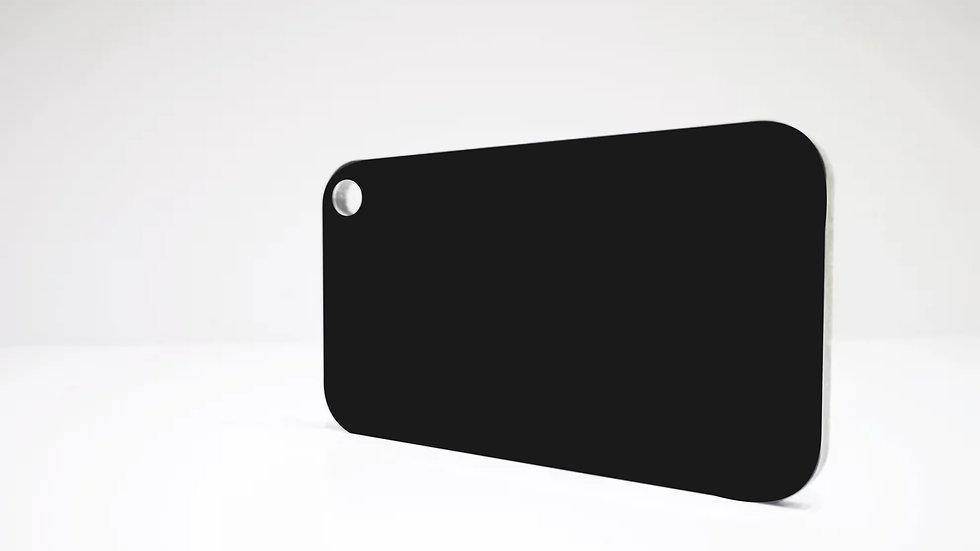 Aluverbundplatte 4mm Aluminium-Verbundplatte - Schwarz Matt - 320cmx150cm